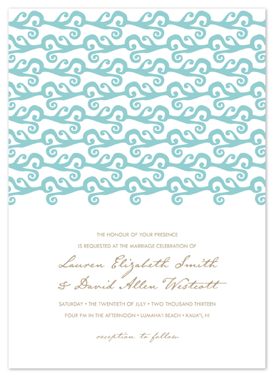 wedding invitations - love at lumaha'i by guess what?