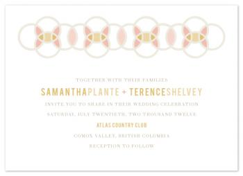 Grapefruit Cocktail Wedding Invitations