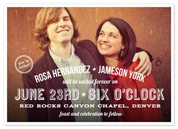Graphic Photo Wedding Invitations