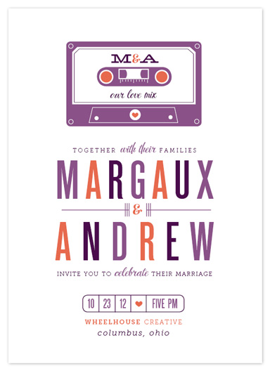 wedding invitations - our love mix by Cheer Up Press