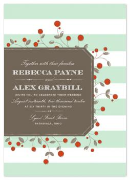 Antique Orchard Wedding Invitations