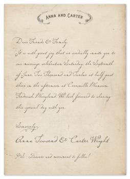Vintage Letter Wedding Invitations
