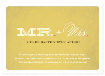 Mr & Mrs To Be Wedding Invitations