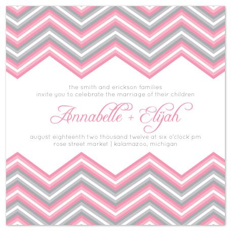 wedding invitations - Chevron Romance by Emily Ford