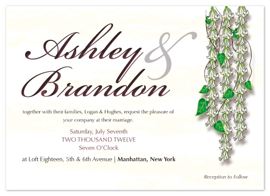 wedding invitations - Lilies by Angela Chih
