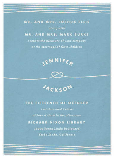 wedding invitations - Simple Knot by Heritage and Joy