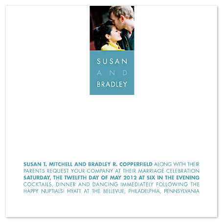 wedding invitations - Simply Squared by Carol Fazio