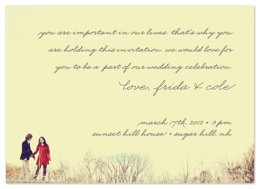 wedding invitations - Intimacy by Erin Pescetto