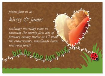 Love bug Wedding Invitations