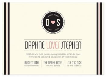 love, sweet love Wedding Invitations