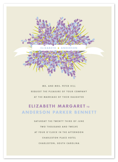 wedding invitations - Lilacs by Kristie Kern