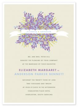 Lilacs Wedding Invitations