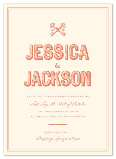 wedding invitations - Rustic Keys by Olivia Raufman