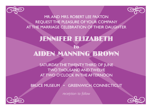 wedding invitations - Bold Pop by Elisabeth Lein