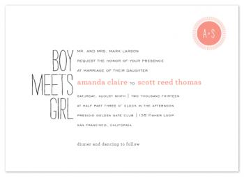 Boy Meets Girls Wedding Invitations