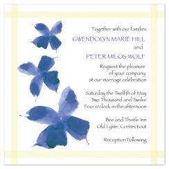 Watercolor Violets Wedding Invitations