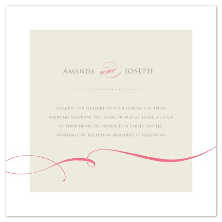wedding invitations - elegant  and curly ribbon by Ana Maria Villanueva