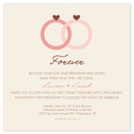 wedding invitations - Forever Rings by Allison Merten