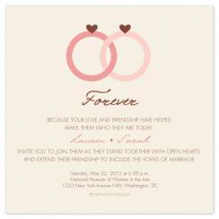 Forever Rings Wedding Invitations