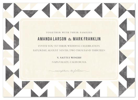 wedding invitations - Triangle Flirtation by SimpleTe Design