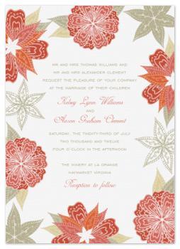 Tropic & Floral Wedding Invitations