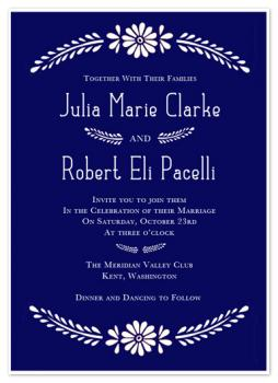 Block Printed Marquee Wedding Invitations
