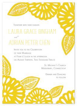 Bold Flowers Wedding Invitations