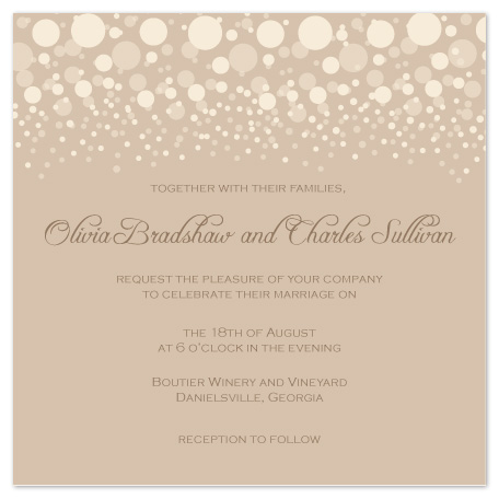 wedding invitations - Confetti Celebration by Elizabeth Harris