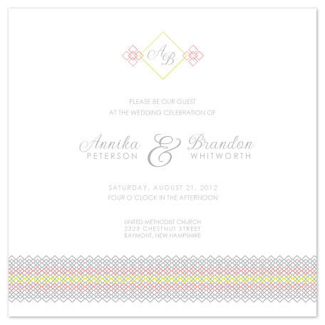 wedding invitations - Smocked Border by Jenn Johnson