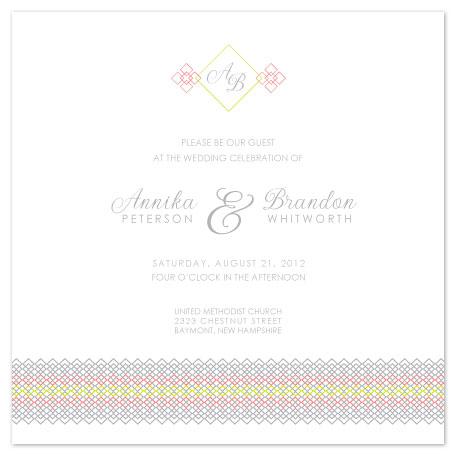 wedding invitations - Smocked Border by Jenn Johnson