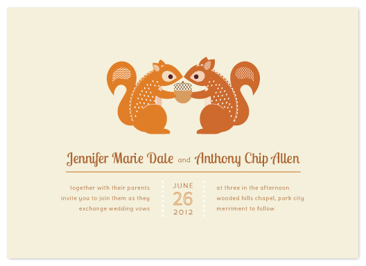 wedding invitations - I'm Nuts For You by Kimberly Morgan