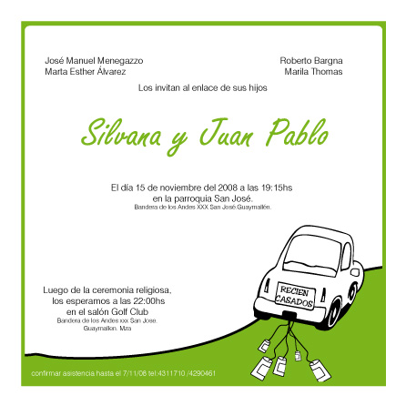 wedding invitations - car by ceciliadg