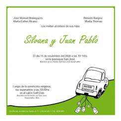 car Wedding Invitations