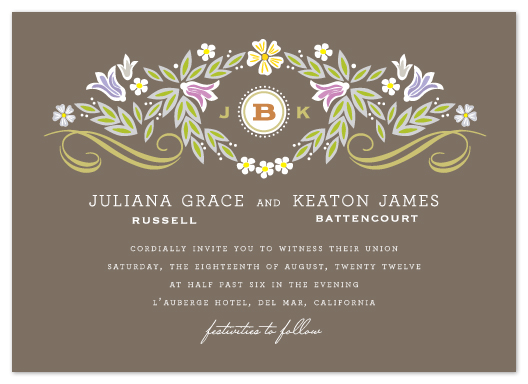 wedding invitations - Flourishing by Griffinbell Paper Co.