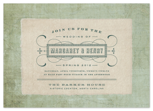 wedding invitations - Tea and Topo by Sydney Newsom