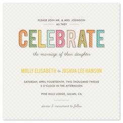 Celebrate Wedding Invitations