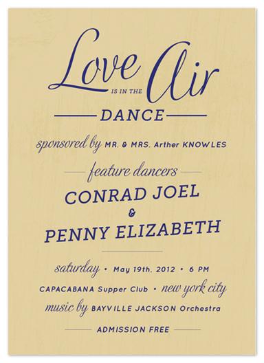 wedding invitations - Dance Card by Yolanda Mariak Chendak