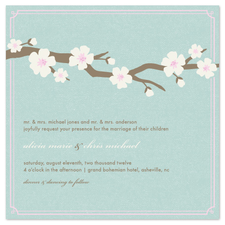wedding invitations - Blossoms by Amber Barkley
