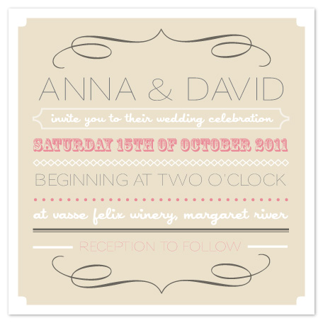 wedding invitations - Classic Typography by KCB Design