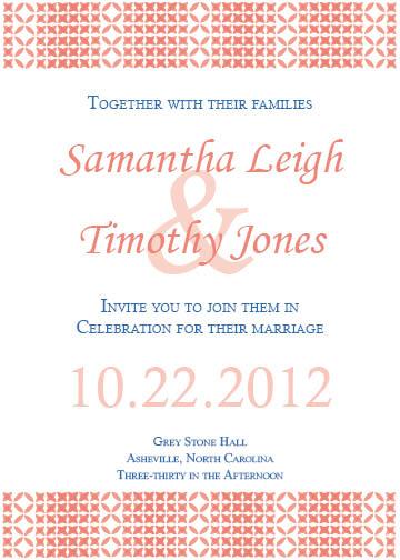 wedding invitations - modern weave by d greene