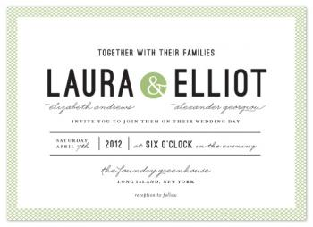 Dot & Cross Wedding Invitations