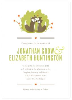 Fox Love Wedding Invitations