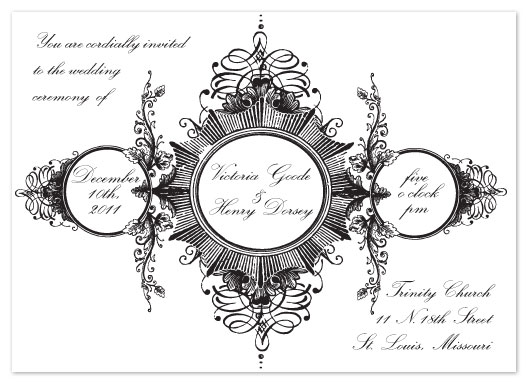 wedding invitations - Gothic Grande by Erica Coe and Ashley Swander