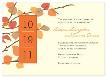 Autumn Romance  Wedding Invitations