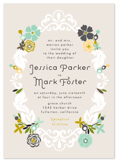wedding invitations - Floral Frame by Alethea and Ruth