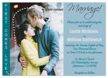 First Comes Love Wedding Invitations
