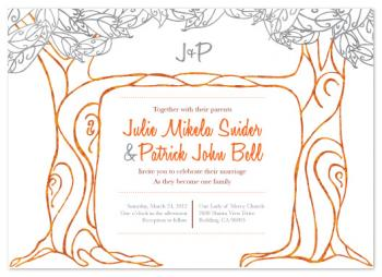 Joining Branches Wedding Invitations