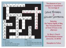 A Crossword Puzzle by Leslie Rico