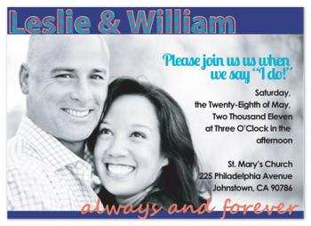 Extra Large Photo Wedding Invitations