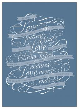 Love Never Ends Wedding Invitations